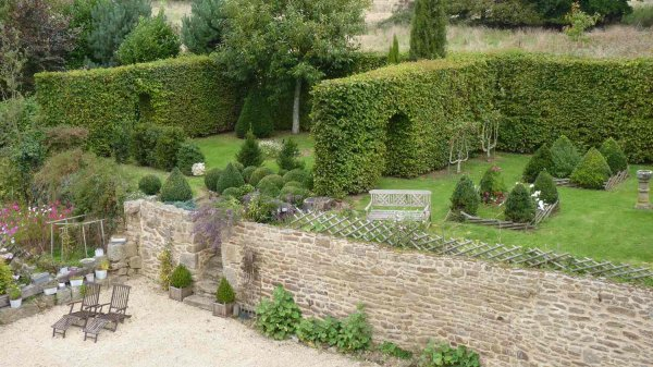 Unique Topiary garden Brittany